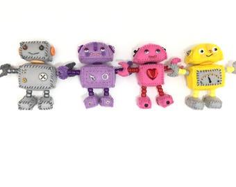 Cute Plush Felt Robot Ornaments