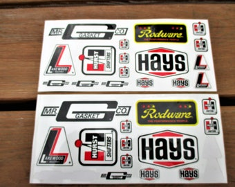 Lakewood, Hurst Shifters and Hays Car Decals