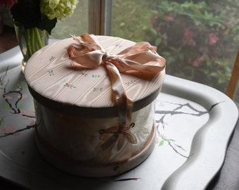 Vintage Baby Bonnet in Hat Box