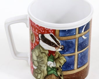Sigma Cup, Mug, The Wind in the Willows, Vintage 1981, Mr. Toad, Mr. Badger