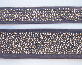 Studded Waistband Elastic By The Yard Made in France