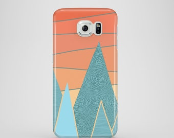 Sunset mobile phone case / Samsung Galaxy S7, Samsung Galaxy S6, Samsung Galaxy S6 Edge, Samsung Galaxy S5, illustrated phone case