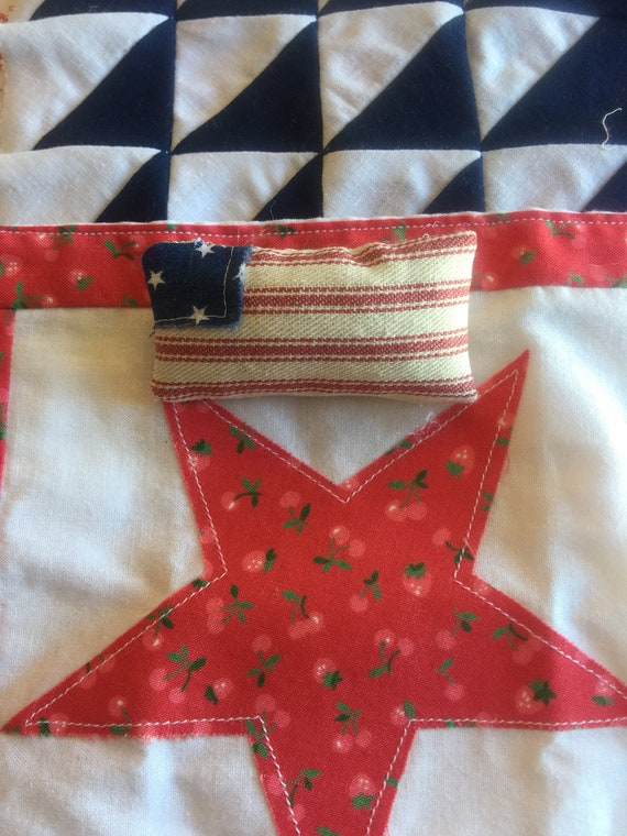 "Miniature Flag pillow 1 1/4"" x 2 1/4"""