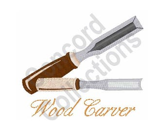 Wood Carver - Machine Embroidery Design