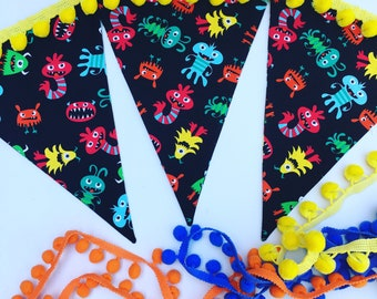 Monster bash banner - Adopt a monster party - Monster bunting