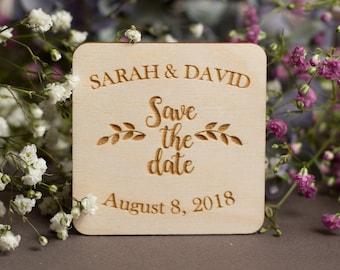 Succulent Save-the-Date Magnet Succulent-Wedding-Magnet Wooden Magnet Save The Date Magnet Rustic Wooden Save The Date Magnet Succulent Card