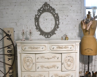 Painted Cottage Chic Shabby Romantic French Dresser DR936