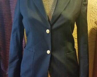 Vintage navy blue women's/ladies Brooks Brothers blazer, size 4, 100% wool. REDUCED