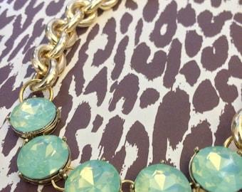 Mint Opal Stone Statement Necklace