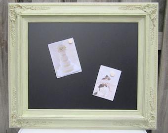 "ORNATE FRAMED CHALKBOARD For Sale 27""x23"" Celery Green Framed Menu Board Kitchen Chalk board Magnetic Chalkboard Unique Gift"