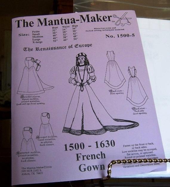 Renaissance Französisch Kleid Schnittmuster: Multi & Plus