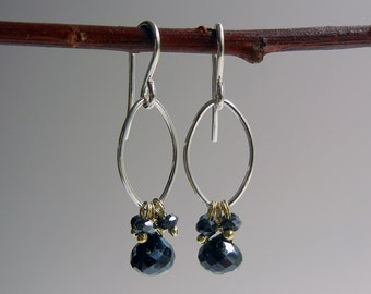 Black Spinel Branwen Earrings