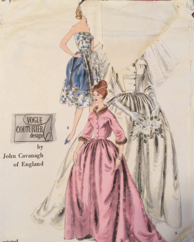 Vintage 50er 60er Jahre John Cavanagh Vogue Couturier
