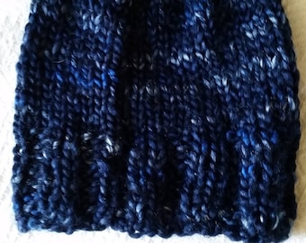 Mixed blue wool hat
