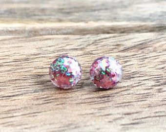 Stargazer Round Glitter Stud Earrings