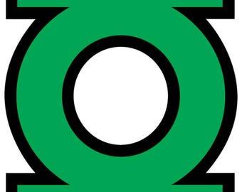 Green Lantern Inspired Halloween Superhero Costume Logo Iron On Transfer
