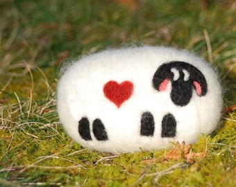 Valentine's Day Felted Soap Love Ewe Love You  Sheep Lavender Soap For The One You Love