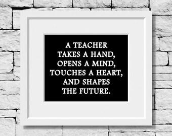 Teacher Quote, Teacher Print, Teacher Gift, Classroom Decor, Student Teacher, Gifts for Teachers