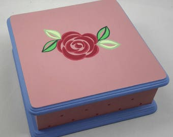 Hand Painted Jewelry Box With Mirror