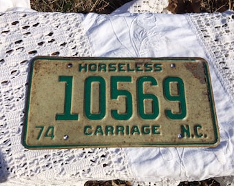 horseless carriage 1974 NC tag