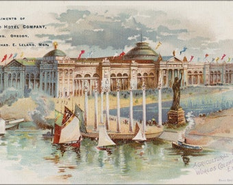 Poster, Many Sizes Available; Agricultural Building At The Worlds Columbian Exposition, Chicago, Illinois, Circa 1893
