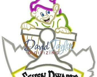 Seven Dwarfs Mine Train - Dopey - Embroidery Machine Design - Applique - Instant Download - David Taylor Digitizing