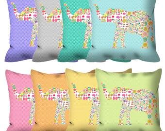 elephant decor baby pillow, elephant pillow baby room decor kids pillow elephant nursery decor girls room decor colorful decorative pillow