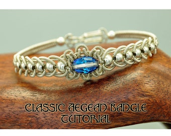 Classic Aegean Coiled Wire  Bangle - Instant Download Wire Jewelry Tutorial Instruction PDF