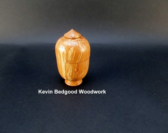 Box Lidded Container Spalted Maple hand turned wood