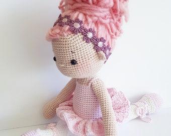 "Amigurumi Crochet Doll ""Tammy the little Ballerina"" PDF Download (German/English)"