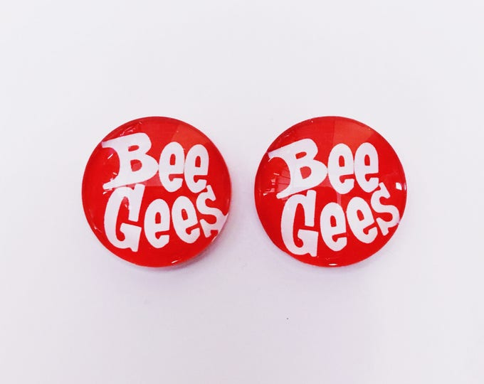 The 'Bee Gees' Glass Earring Studs