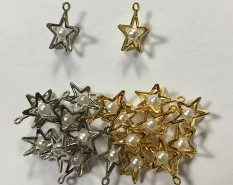 Small Star Pendant with pearl