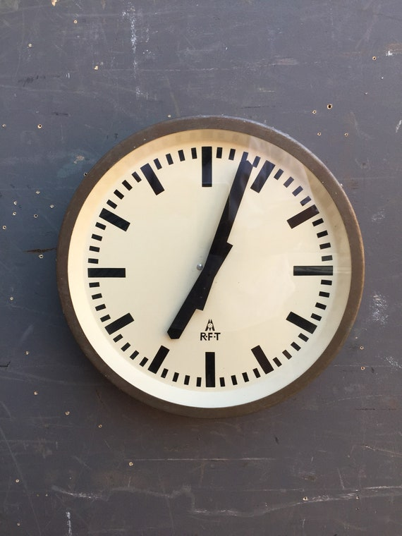 1950's East German Industrial Factory / Office Clocks By RFT