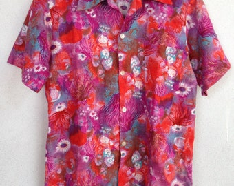 Rare vintage Hawaiian shirt 60s made in Hawaii M