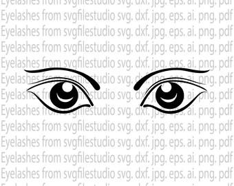 T-shirt svg, Eyelashes SVG File, Makeup SVG File, eye svg, woman svg, eyebrow svg, jumper svg, eyelashes cut files, dxf, png, eps, jepg, pdf