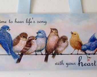 Birds Art Print, Bird Home Decor, Bird Card, Birds on a Wire, Birds Paper Print