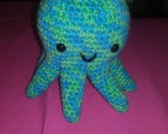 Blue amigurumi Octopus