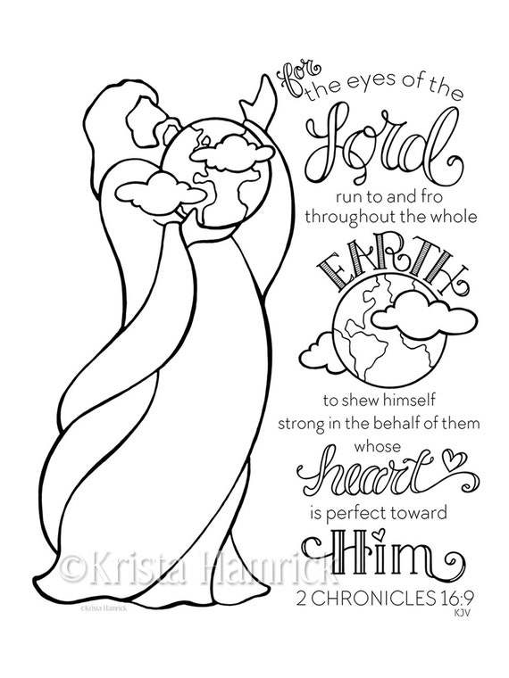 The Eyes Of The Lord Coloring Page 85X11 Bible Journaling