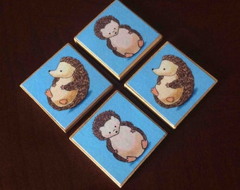 Cute Hedgehog Magnets (set of 4)