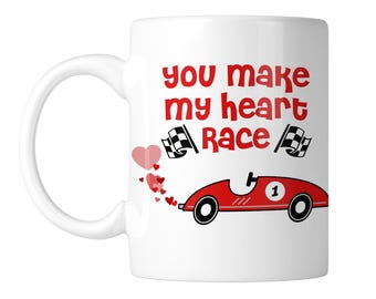You Make My Heart Race 11 oz. Coffee Mug