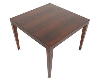 Danish Modern Mid Century Severin Hansen for Haslev Rosewood Side Table