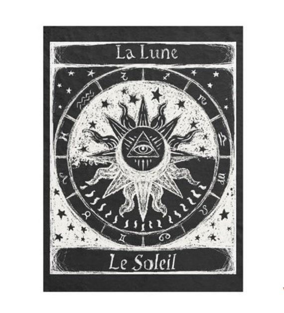 Astrology Tarot fleece blanket