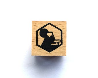 New Year Rubber Stamp -  Mount Fuji Stamp-  Traditional Japanese Rubber Stamp - Small Size