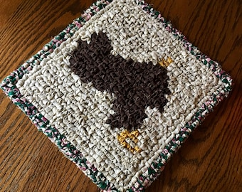 Locker Hook Western Style Saddle Table Mat / Trivet / Hot Pad/ Wall Hanging