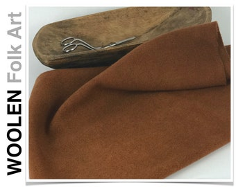 RUSTY BUCKET (dark) ~ Hand Dyed Wool Fabric, Comes in 2 sizes,rug hooking, applique, quilting, penny rugs