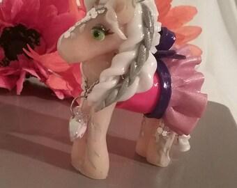 Handmade Polymer clay figurine horse