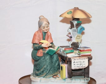 Vintage Lefton Figurine # 4717 Lady Writing in a Book