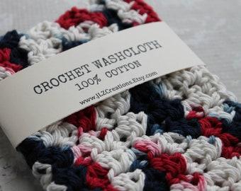 100% Cotton Crochet Wash Cloth,  Cotton Dish Cloth, Wash Rag, Spa, Beauty, Eco Friendly, Crochet Washcloth, Crochet Dishcloth