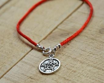 Safety Amulet on Red String Bracelet