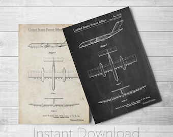 Airplane Printables, Aviation Art, Pilot Gift, Airplane Wall Decor, PP0749